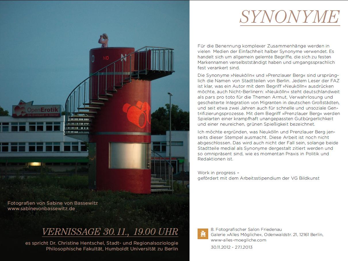 Ausstellung Friedenau Fotografie Sabine von Bassewitz